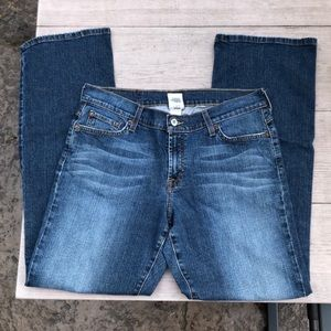 Lucky Brand Dark Wash Dungarees Vintage Jeans 30""